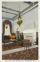 0323896 © Granger - Historical Picture ArchivePENNSYLVANIA: HOTEL.   Men's Club at the Hotel Pennsylvania in Philadelphia, Pennsylvania. Postcard, mid 20th century.