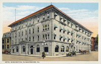 0323897 © Granger - Historical Picture ArchivePENNSYLVANIA: HOTEL.   The Hotel Washington in Chambersburg, Pennsylvania. Postcard, early 20th century.