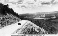 0324391 © Granger - Historical Picture ArchivePENNSYLVANIA: HIGHWAY.   View from Bald Eagle Lookout, near State College, in Pennsylvania. Photo postcard, c1935.