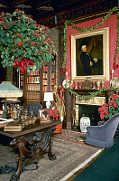 0129119 © Granger - Historical Picture ArchiveNEWPORT: VICTORIAN MANSION.   The library at 'Chateau-sur-Mer, the 'cottage' built by Seth Bradmore, 1852, at Newport, Vermont, for William Shepard Wetmore. Photograph, c1990s.