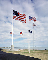 0184272 © Granger - Historical Picture ArchiveSOUTH CAROLINA: FLAGS, c1990.   A view of flags at Fort Sumter in South Carolina. Photograph by Carol M. Highsmith, c1990.