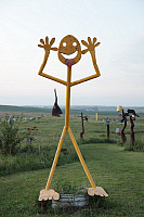 0128835 © Granger - Historical Picture ArchivePORTER SCULPTURE PARK.   Porter Sculpture Park just off Interstate 90 in the South Dakota Drift Prairie, Montrose, South Dakota. Photograph by Carol M. Highsmith, September 2009.