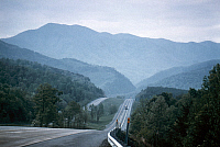 0129634 © Granger - Historical Picture ArchiveSMOKY MOUNTAINS HIGHWAY.   View of the Smoky Mountains in Tennessee, 1977.