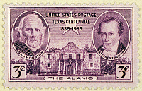 0031340 © Granger - Historical Picture ArchiveSTAMP: TEXAS CENTENARY 1936.   U.S. postage stamp, 1936, commemorating the 100th anniversary of the establishment of the Republic of Texas.