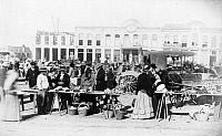 0125311 © Granger - Historical Picture ArchiveTEXAS: MARKET, 1887.   A market on Military Plaza in San Antonio, Texas. Photograph by E.K. Sturdevant, 1887.