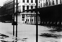0216260 © Granger - Historical Picture ArchiveGALVESTON: FLOOD, 1915.   The Strand in Galveston, Texas, flooded during the hurricane in 1915. Photograph.