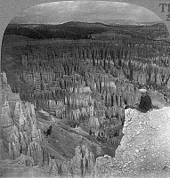 0066083 © Granger - Historical Picture ArchiveUTAH: BRYCE CANYON.   Looking northeast across 'The Silent City' from the rim of Bryce Canyon. Photographed c1920.