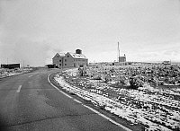 0266736 © Granger - Historical Picture ArchiveUTAH: DUGWAY, 1994.   View of the German village at the Dugway Proving Ground in Utah, built during World War II for testing firebombing tactics. Photograph, 1994.