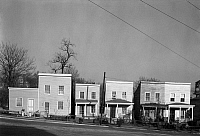 0120330 © Granger - Historical Picture ArchiveFRAME HOUSES, 1936.   Low income housing in Fredericksburg, Virginia. Photograph by Walker Evans in March 1936.