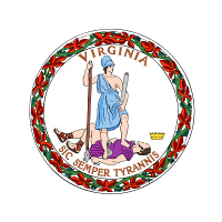 0633940 © Granger - Historical Picture ArchiveSTATE SEAL: VIRGINIA.   Official seal of the state of Virginia. Full Credit: ullstein bild - Keith / Granger. All Rights Reserved.
