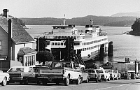 0176656 © Granger - Historical Picture ArchiveWASHINGTON: FERRY.   A ferry docking at Friday Harbor on San Juan Island, off the coast of the state of Washington. Photograph, c1975.
