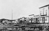 0186479 © Granger - Historical Picture ArchiveWYOMING: RAWLINS, 1879.   Front Street in Rawlins, Wyoming. Photograph, 1879.