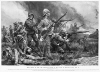 0370709 © Granger - Historical Picture ArchiveSECOND BOER WAR, 1900.   The Battle of Biddulphsberg during the Second Boer War, 28 May 1900. Contemporary illustration by Richard Caton Woodville.