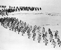 0000310 © Granger - Historical Picture ArchiveRUSSO-FINNISH WAR, 1939-40.   Soviet ski troops advancing in Finland, 1939-40.