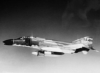 0102417 © Granger - Historical Picture ArchiveVIETNAM WAR: PHANTOM JET.   A U.S. Air Force F-4C Phantom aircraft in flight over South Vietnam, November 1966.