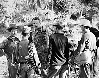 0176783 © Granger - Historical Picture ArchiveVIETNAM: AMERICAN ADVISOR.   Sergeant First Class William J. Bowen of the U.S. Army (pointing) advising a group of district volunteers during an operational training mission in South Vietnam, December 1962.