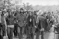 0528460 © Granger - Historical Picture ArchiveANTI-WAR PROTEST, 1971.   Anti-war protesters marching to the Department of Justice building in Washington, D.C. Photograph by Warren K. Leffler, 4 May 1971.