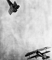 0003768 © Granger - Historical Picture ArchiveWWI: DOGFIGHT.   Model German and Allied airplanes in simulated combat. Photograph, c1933.