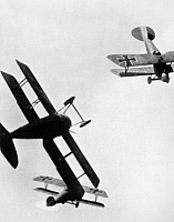 0003769 © Granger - Historical Picture ArchiveWWI: DOGFIGHT.   Model German and Allied airplanes in simulated combat. Photograph, c1933.