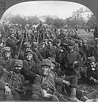 0065316 © Granger - Historical Picture ArchiveWWI: BATTLE OF THE MARNE.   French reservists resting during the Battle of the Marne: from a stereograph view.