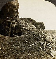 0099666 © Granger - Historical Picture ArchiveWORLD WAR I: DESOLATION.   The terrible desolation of once-fertile hills and valleys in France. Stereograph, c1918.