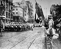 0183743 © Granger - Historical Picture ArchiveWORLD WAR I: PARADE.   French military parade during World War I. Photograph, c1916.