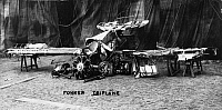 0183861 © Granger - Historical Picture ArchiveFOKKER TRI-MOTOR AIRPLANE.   Remains of a Fokker tri-motor airplane after crashing during World War I.