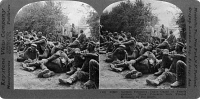 0325667 © Granger - Historical Picture ArchiveWORLD WAR I: PRISONERS.   German prisoners of war under French guard. Stereograph, 1914-1918.
