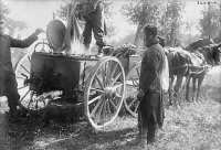 0354100 © Granger - Historical Picture ArchiveWWI: COOKS, c1914.   Cooks preparing meals on a wagon for French soldiers. Photograph, c1914.
