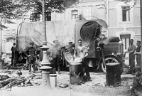 0354136 © Granger - Historical Picture ArchiveWWI: KITCHEN, c1914.   English soldiers cooking at Amiens, France. Photograph, c1914.