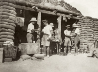 0354223 © Granger - Historical Picture ArchiveWWI: GAZA STRIP, 1917.   A British field ambulance dressing station on the Gaza front during World War I. Photograph, 1917.