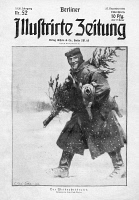 0355155 © Granger - Historical Picture ArchiveWORLD WAR I: CHRISTMAS.   'The Christmas Roast.' A German soldier carrying a Christmas tree and a pig. Illustration from a German newspaper, 1914.