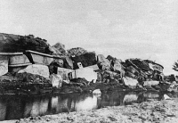 0370501 © Granger - Historical Picture ArchiveWWI: FORT, c1914.   The ruins of Starbrouck Fort near Antwerp, Belgium, destroyed by the Belgian army when they evacuated. Photograph, c1914.