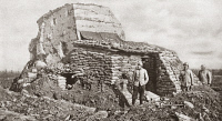 0407926 © Granger - Historical Picture ArchiveWORLD WAR I: PILL BOX FORT.   German pill box fort taken by French forces during World War I. Photograph, 1914-1918.