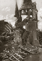 0409029 © Granger - Historical Picture ArchiveWORLD WAR I: CHATEAU.   Chateau destroyed by shelling, France. Photograph, c1916.
