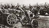 0409164 © Granger - Historical Picture ArchiveWORLD WAR I: SURRENDER.  Some of the 5,000 German guns surrendered under the terms of the Armistice. Photograph, c1918.