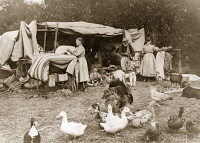 0527977 © Granger - Historical Picture ArchiveWWI: REFUGEES, c1918.   A refugee camp near Montmort, France. Photograph, c1918.