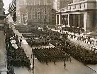 0528284 © Granger - Historical Picture ArchiveWWI: PARADE, 1919.   The 369th Infantry Regiment on parade up Fifth Avenue in New York City. Photograph, 17 February 1919.