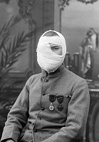 0528869 © Granger - Historical Picture ArchiveWWI: VETERAN, 1919.   A French soldier whose face was disfigured during World War I. Photograph, 1919.
