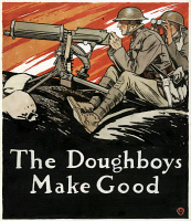 0622656 © Granger - Historical Picture ArchivePENFIELD: DOUGHBOYS, 1918.   'The Doughboys Make Good.' Watercolor and ink drawing by Edward Penfield.