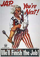 0007233 © Granger - Historical Picture ArchiveWORLD WAR II: U.S. POSTER.   'Jap ... You're Next!' American World War II Army poster depicting anti-Japanese sentiment by James Montgomery Flagg, 1944.