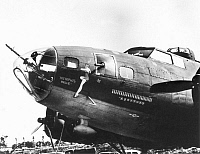 0016456 © Granger - Historical Picture ArchiveWORLD WAR II: BOMBER.  The B-17 'Memphis Belle', one of the most famous bombers of WWII.