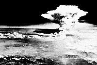0033172 © Granger - Historical Picture ArchiveWWII: HIROSHIMA, 1945.   Explosion of the first atomic bomb, at Hiroshima, Japan, 6 August 1945.