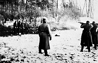 0083222 © Granger - Historical Picture ArchivePOLAND: FIRING SQUAD, 1941.   Polish civilians executed by the German Army during the Nazi occupation of Poland, World War II. Photographed in 1940-41.