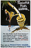 0083251 © Granger - Historical Picture ArchiveANTI-JAPANESE POSTER, c1942.   'Remember Pearl Harbor.' American World War II propaganda poster, c1942, warning citizens against Japanese spies and informants.