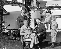 0108157 © Granger - Historical Picture ArchiveCASABLANCA CONFERENCE, 1943.   President Franklin D. Roosevelt with Major General George Smith Patton, affixing the Congressional Medal of Honor upon Brigadier General William H. Wilbur in the presence of General George C. Marshall, at the Casablanca Conference in Casablanca, Morocco, January 1943.