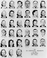 0354397 © Granger - Historical Picture ArchiveDUQUESNE SPY RING, c1941.   The 33 convicted members of the Duquesne spy ring, including Fritz Duquesne, arrested in 1941 for delivering Allied information to Germany. Photograph, c1941.