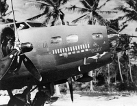 0526314 © Granger - Historical Picture ArchiveWWII: FLYING FORTRESS.   The B-17 Flying Fortress 'Goonie' somewhere in the South Pacific during World War II. Photograph, c1943.
