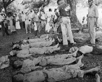 0623435 © Granger - Historical Picture ArchiveWWII: BATAAN, 1942.   Casualties from American prisoners-of-war captured by the Imperial Japanese Army in the Philippines, during the march from Bataan. Photograph, April 1942.