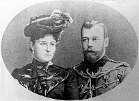 0350306 © Granger - Historical Picture ArchiveNICHOLAS II & ALEXANDRA.    Emperor Nicholas II of Russia and his wife, Empress Alexandra Feodorovna of Russia, c1910. Full credit: ITAR-TASS Photo Agency / Granger, NYC -- All rig